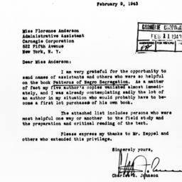 Letter from Charles S. John...