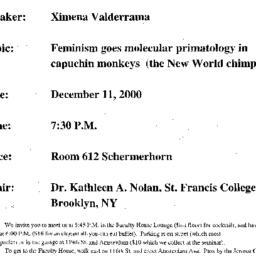 Announcements, 2000-12-11. ...