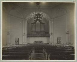 Chattanooga Church, [interior view towards organ]