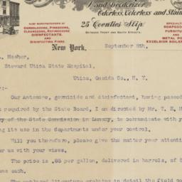 Antozone Chemical Co. Letter