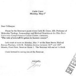 Correspondence, 2006-05-01....