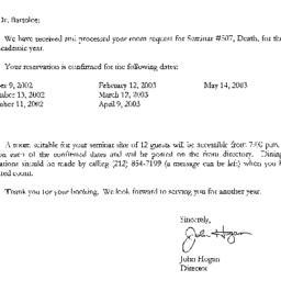 Correspondence, 2003-07-10....