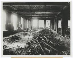 View of ruins after blaze swept fire in Triangle Shirtwaist Factory