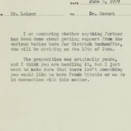 Memorandum from Henry Smith...