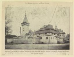 The Castle from the southwest, German Village, Midway Plaisance, World's Columbian Exposition, Chicago. Karl Hoffaker, Architect
