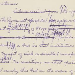 Draft Manuscript Letter, Wi...