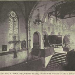 Chapel and entrance hall in...