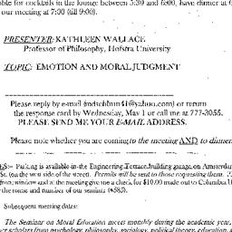 Announcements, 2002-05-07. ...