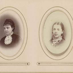 Two Images in Ovals: Female...