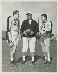 Coach Lou Little with Lou Kusserow and Gene Rossides
