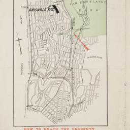 Map of 58 lots belonging to...
