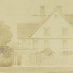 [Cheney house, elevation]