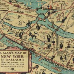 A     man's map of New York...