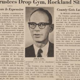 Trustees Drop Gym, Rockland...