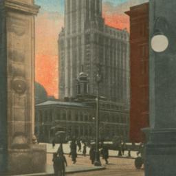 Woolworth Building, Looking...