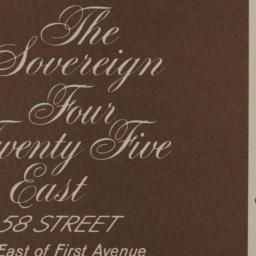 Sovereign, 425 E. 58 Street...