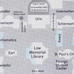 Campus map with blue shadin...