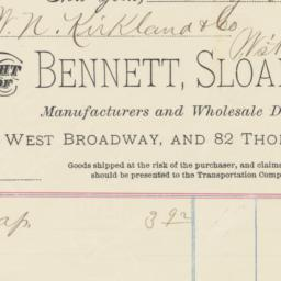Bennett, Sloan & Co. Bill o...