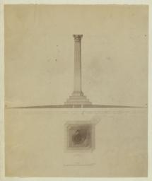 Design for a Monument for the Grave Plot of H. McK. Twombly, Esqre, Woodlawn