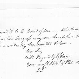 Document, 1779 January 22