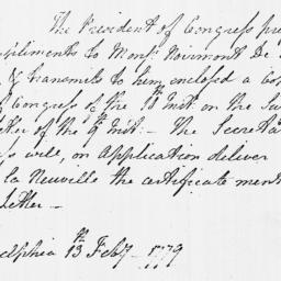 Document, 1779 February 13