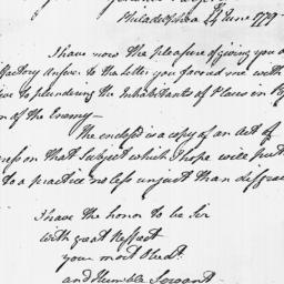 Document, 1779 June 24