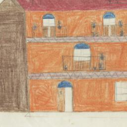 Depicts Orange House With R...