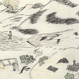 Drawing Of A Bucolic Landscape