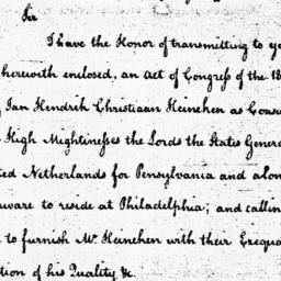Document, 1785 April 28