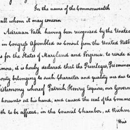 Document, 1785 August 17