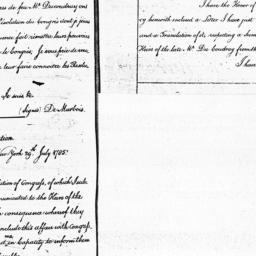 Document, 1785 July 29