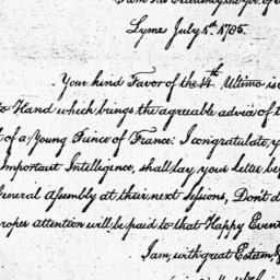 Document, 1785 July 01