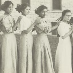 Six Young Women Standing in...