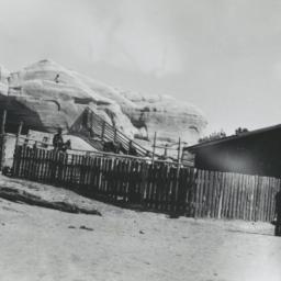 Ranch near a Rock Formation