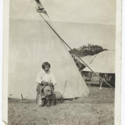 American Indian Boy  With a...