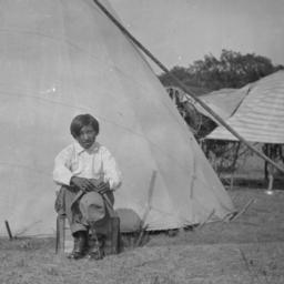 American Indian Boy With a ...