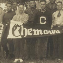 Group of Men Holding Pennan...
