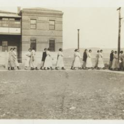 Group of Women Walking on a...