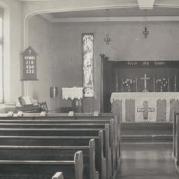 Interior of Anglican Chapel...