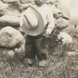 American Indian Boy with Hat