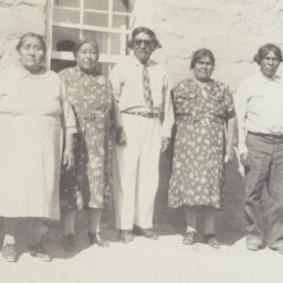 Six Native Americans in fro...