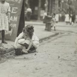Children Playing in Gutter