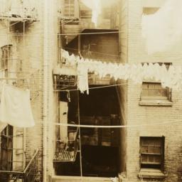 Clotheslines Between Buildings