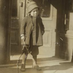 Boy Holding Stick