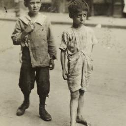 Barefoot Boy and Boy in Sho...