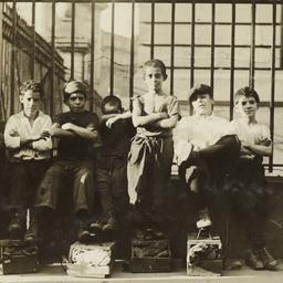 Boys with Shoeshine Boxes i...