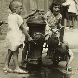 Children near Fire Hydrant