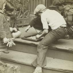 Children Playing on Stoop