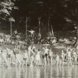 Boy Campers Around Shore