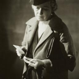 Woman with Note